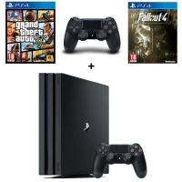 Console PS4 Pro - 1To + 2e Manette + GTA V + Fallout 4