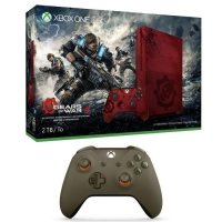 Console Xbox One S - 2To - Limited Edition + Gears of War 4 + 2ème Manette (verte)