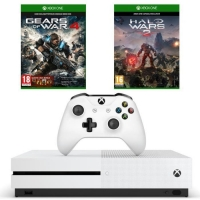 Console Xbox One S - 500 Go + Gears of War 4 + Halo Wars 2 (via application / mobile)