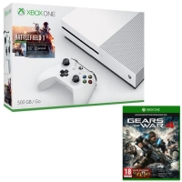 Console Xbox One S - 500 Go + Battlefield 1 + Gears of War 4 (via application / mobile)