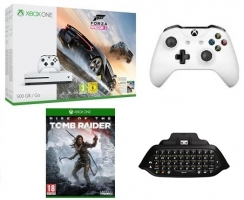 [Prime] Console Xbox One S - 500 Go + Forza Horizon 3 + 2ème Manette + Chatpad + Rise of the Tomb Raider