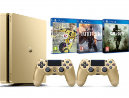[Prime] Pack PS4 Gold + 2ème manette + FIFA 17 + Battlefield 1 + Call of Duty: Modern Warfare Remastered
