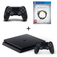 Console PS4 Slim - 500Go + 2ème Manette  + The Elder Scrolls (via mobile)