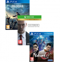 Yakuza 0 / Final Fantasy XV - Day One Édition / Hitman : The Complète First Season (avec Steelbook)