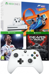 Console Xbox One S - 500 Go + 2ème Manette + Forza Horizon 3 + Hot Wheels + FIFA 18 + Gears of War Ultimate Edition