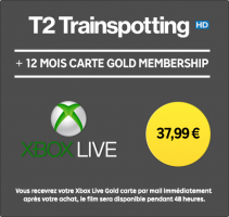 Abonnement Xbox Live de 12 mois + Location du Film T2 Trainspotting  (HD - 48h)