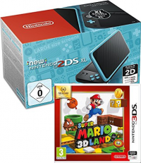 Console 2DS XL (noir ou blanc) + 1 Jeu (Super Mario 3D Land, Kirby Triple Deluxe, Luigi's Mansion 2)
