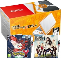 Console New Nintendo 2DS XL (Deux Coloris) + Pokemon Y + Bravely Default