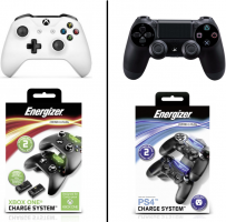 Manette PS4 ou Xbox One + Double Chargeur Energizer