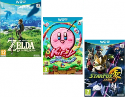 Packs de jeux en Promo  : Zelda-Breath of the Wild + Kirby et le Pinceau Arc-en-ciel + Star Fox Zero