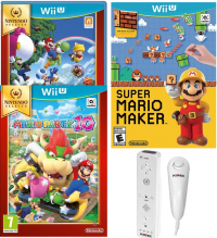 Super Mario Maker + New Super Mario Bros + New Super Luigi U + Mario Party 10 +  Manette Wiimote konix