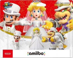 Amiibo Collection Super Mario Odyssey - Bowser + Mario + Peach (Tenues de mariage)