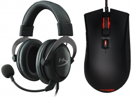 Micro-Casque - HyperX Cloud II Gun Metal + Souris Gaming - Pulsefire FPS