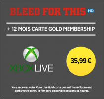 Abonnement Xbox Live de 12 Mois + Location du Film Bleed for This (HD - 48h)