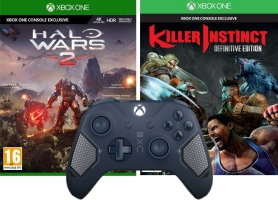 Manette pour Xbox One / PC (Au Choix) + Halo Wars 2 + Killer Instinct : Definitive Edition