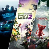 Need for Speed + Plants vs. Zombies Garden Warfare 2 + Unravel