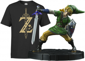 Figurine Link ou Scervo - The Legend of Zelda : Skyward Sword + T-Shirt Zelda (Au Choix)