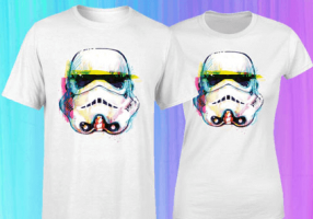 T-Shirt - Stormtrooper Paint Brush Art (Homme / Femme / Enfant - S à XXL)