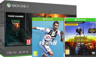 Console Xbox One X - 1To + Shadow of the Tomb Raider + FIFA19 + PUBG