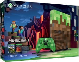 Console Xbox One S - 1 To - Édition Limitée + Minecraft (+ DLC)