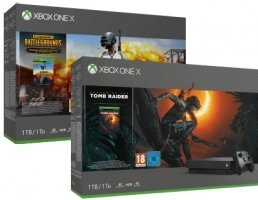 Console Xbox One X - 1To + Shadow of the Tomb Raider ou PUBG