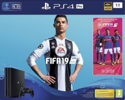 Console PS4 Pro - 1To + FIFA 19 + 30€ Offerts