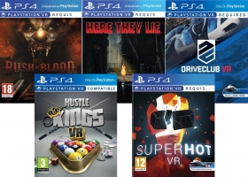 DriveClub VR / Until Dawn : Rush Of Blood / Hustle Kings VR /  SuperHot VR / Here They Lie