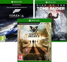 State of Decay 2 / Rise of the Tomb Raider / Forza Motorsport 6