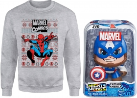 Sweat Marvel ou Star Wars pour Homme (au choix - Taille S à 5XL) + Figurine Mighty Muggs Marvel ou Star Wars