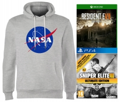 Sweat Geek + 1 Jeu au choix, exemple : Sweat Insignia NASA + Resident Evil 7
