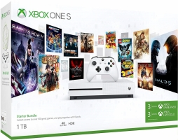 Console Xbox One S - 1To + Abonnement Game Pass + Xbox Live de 3 Mois