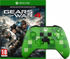 Manette pour Xbox One / PC - Edition Limitée - Minecraft Creeper + Gears of War 4 (Code)