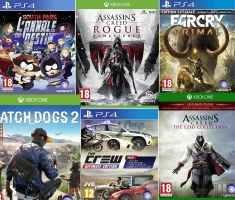 South Park : L'annale du Destin / Assassin's Creed Rogue : Remastered / Assassin's Creed : The Ezio Collection / Far Cry Primal - Spéciale Edition / Watch Dogs 2...