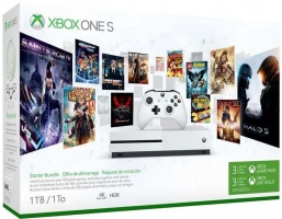 Console Xbox One S - 1To + Abonnement de Xbox Live & Game Pass de 3 Mois