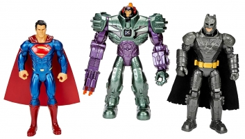 Pack de figurines Mattel - DC Comics - Batman + Superman + Lex Luthor (17cm)