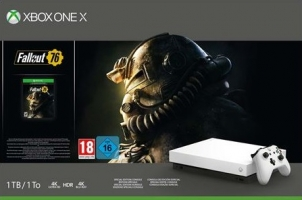 Console Xbox One X - 1To - Edition limitée Robot White + Fallout 76 + 30€ Offerts