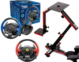 Volant Thrustmaster T150 Force Feedback ou T150 Ferrari Edition + Support Wheel Stand Evo 69 DB
