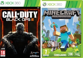 Call of Duty : Black Ops 3 ou Minecraft Xbox 360 Edition