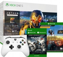 Console Xbox One S - 1To + 2ème Manette + Anthem - Legion of Dawn Edition + Gears of War 4 + PUBG