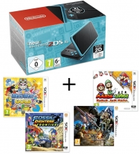 Console New 2DS XL (Blanche/Orange ou Turquoise) + Warioware Gold + Monster Hunter 4 Ultimate + Mario Paper Jam + Fossil Fighter
