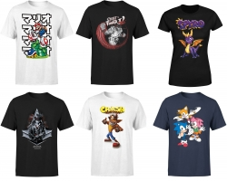 Sélection de T-Shirts Gaming en Promo (Nintendo, Assassin's Creed, Fallout, Street Fighter...)