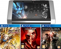 Joystick Arcade - Qanba Obsidian - Edition SoulCalibur VI + Dragon Ball FighterZ + Soul Calibur VI + Tekken 7