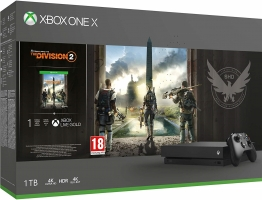 Console Xbox One X - 1To + The Division 2