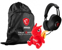 MSI Loot Box : Sac + Casque gamer + Peluche