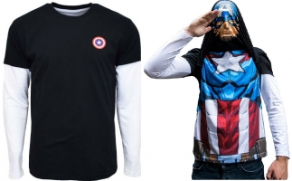 T-Shirt Manches Longues Alter Ego - Marvel - Captain America / Iron Man  / Hulk / Deadpool
