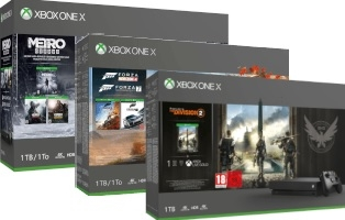 Console Xbox One X - 1To + Forza Horizon 4 + Forza Motorsport 7 / The Division 2 / Metro Exodus / Shadow of the Tomb Raider / PUBG