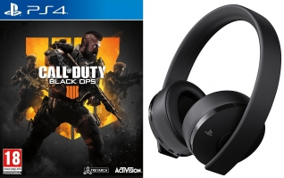 Days of Play 2019 : Micro-Casque PS4 sans Fil - Gold Edition - 7.1 + Call of Duty Black OPS 4