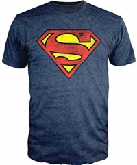 T-shirt - Superman - Shield Navy Heather (Taille XL)