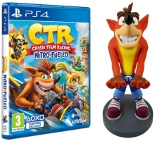 Figurine Cable Guy Crash Bandicoot  - XL (30cm) + Crash Team Racing ou Crash Bandicoot N'Sane Trilogy