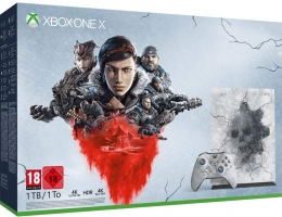 Console Xbox One X - 1To - Edition Limitée Gears 5 + Gears 5 - Ultimate Edition + Gears of War : Ultimate Edition et Gears of War 2, 3 et 4 + 67,50€ Offerts